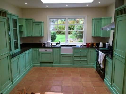 Painted kitchen Cuffley Hertfordshire